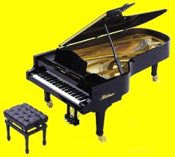 Blüthner model 1 concert grand piano in ebony polished finish
