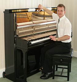 Martin working on piano